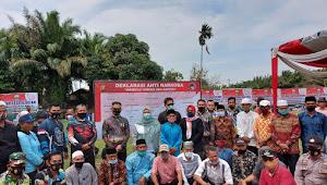 Kapolda dan Bupati Masnah, Deklarasi Kampung Tangguh Anti Narkoba di Desa Pulau Kayu Aro