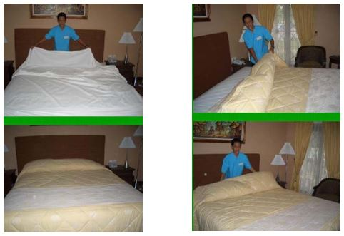 Gambar making the bed room