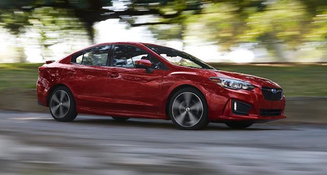 2017 Subaru Impreza sedan red