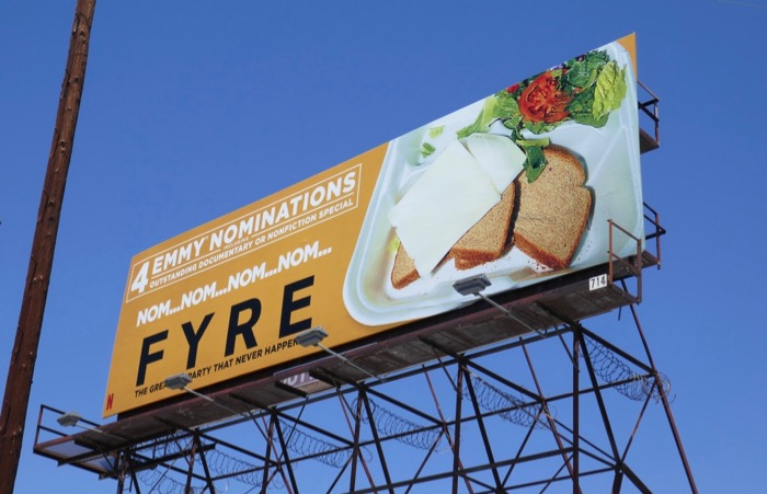 Fyre documentary Emmy nominee billboard