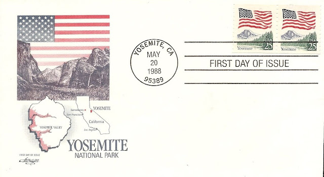 Flag Over Yosemite FDC. Pair.