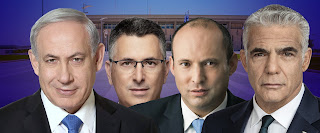 """Ki nevet a végén • Kiszorítósdi az utolsó pillanatig • A Netanjáhu-párti és a """"Csak ne Netanjáhu"""" párti tömb feszül egymásnak • Hétfőn: javaslatok Rivlin államelnök rezidenciájában a leendő kormányfő személyére"""