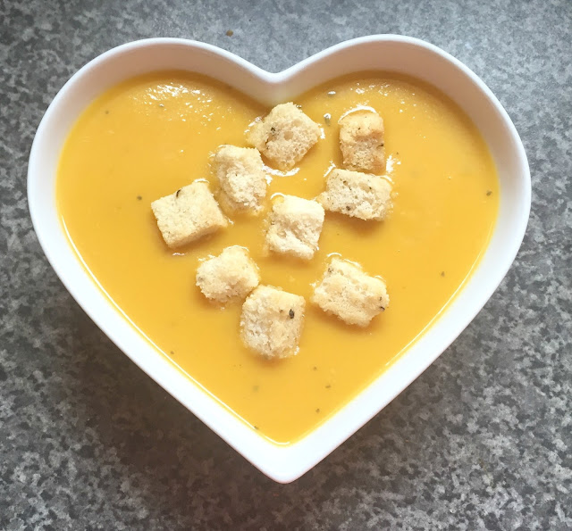 Butternut Squash and chestnut soup recipe