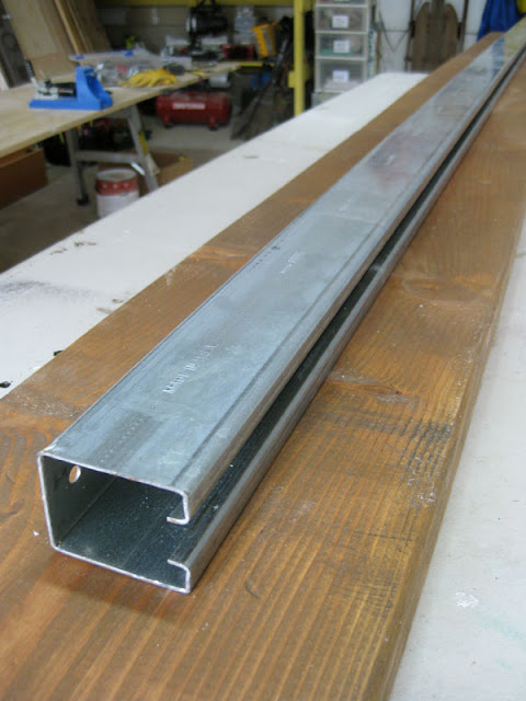 How to install a sliding barn door part 1 the track for 10 foot barn door track