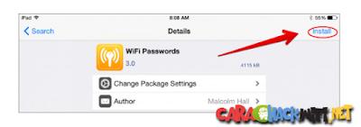 Aplikasi WIFI Passwords di Cydia