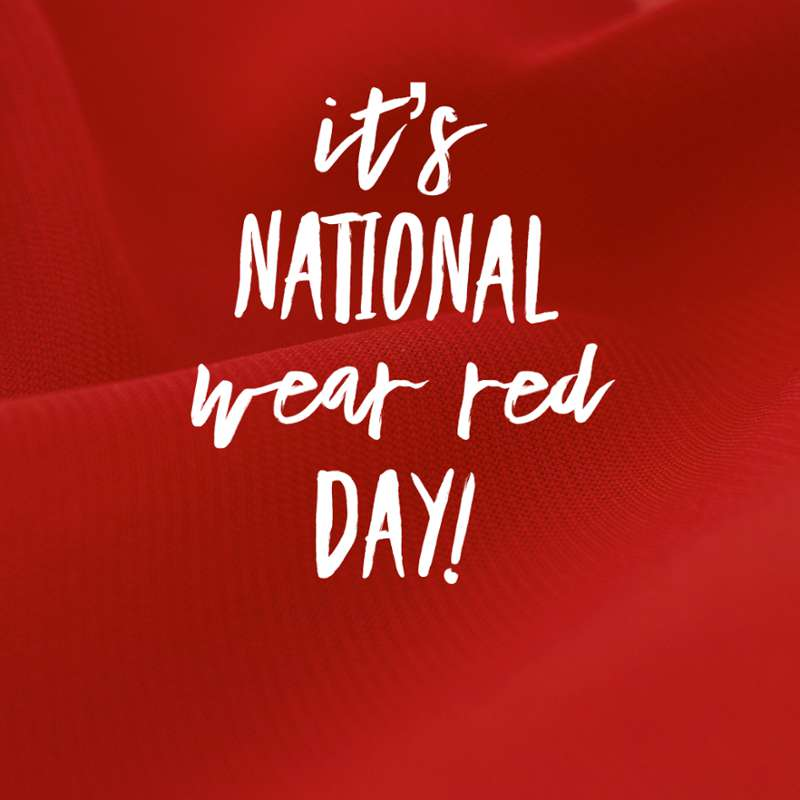 National Wear Red Day Wishes Photos