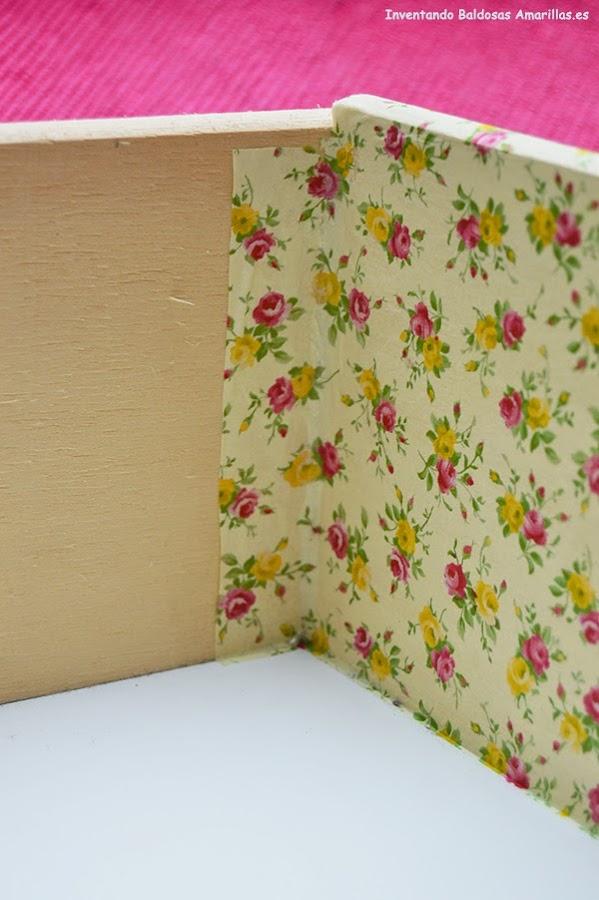 Forrar cajones tela o papel manualidades for Papel de forrar muebles