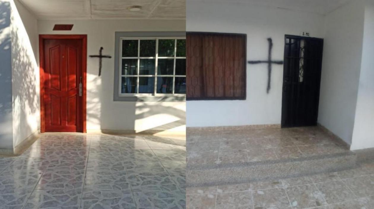 Cruces misteriosas terminaron siendo broma de unos jóvenes, en Juan de Acosta
