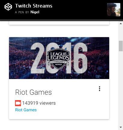 Twitch Streamer Status