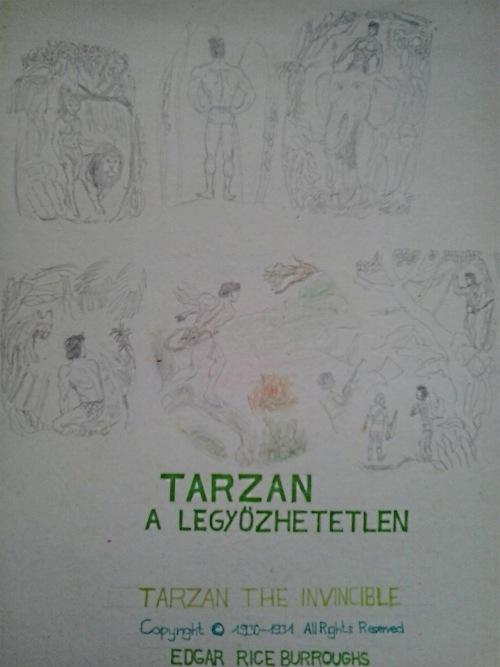 Tarzan a legyőzhetetlen saját rajzok könyvből lerajzolva