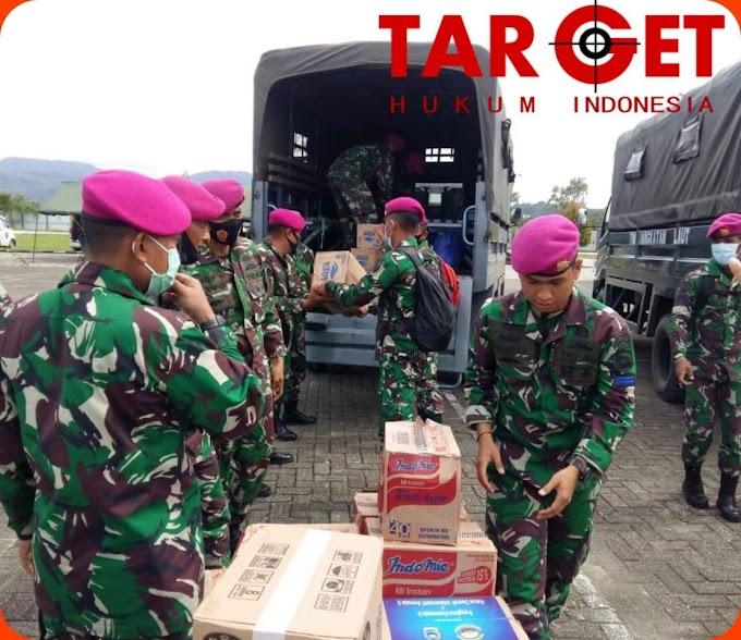 TNI AL Distribusikan Bantuan ke Ratusan Korban Gempa Mamuju