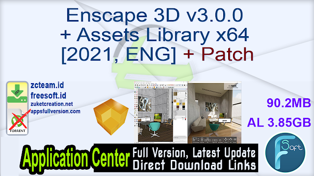 Enscape 3D v3.0.0 + Assets Library x64 [2021, ENG] + Patch_ ZcTeam.id