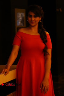 Actress Anchor Manjusha Latest Pictures in Pink Short Dress  0017.JPG
