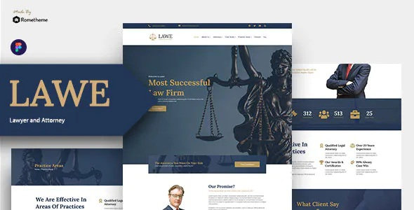 Best Lawyer and Attorney Figma Template