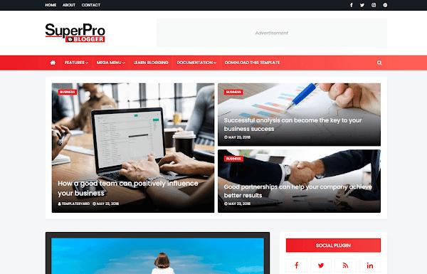 SuperProo Premium Blogger Template