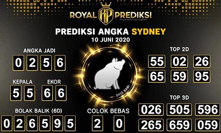Prediksi Togel Sydney Rabu 10 Juni 2020 - Royal Prediksi
