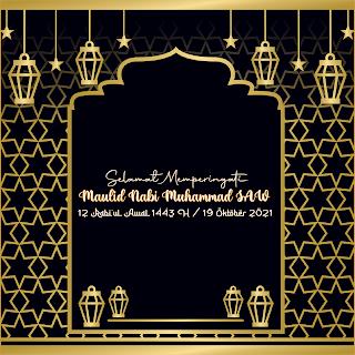 gambar poster maulid nabi muhammad 1443 h 2021 keren - kanalmu