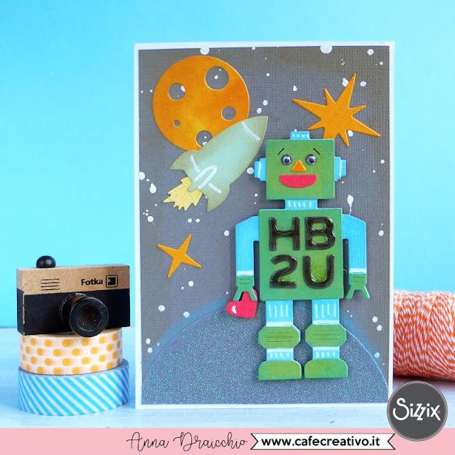 Card con robot per la Festa del papà