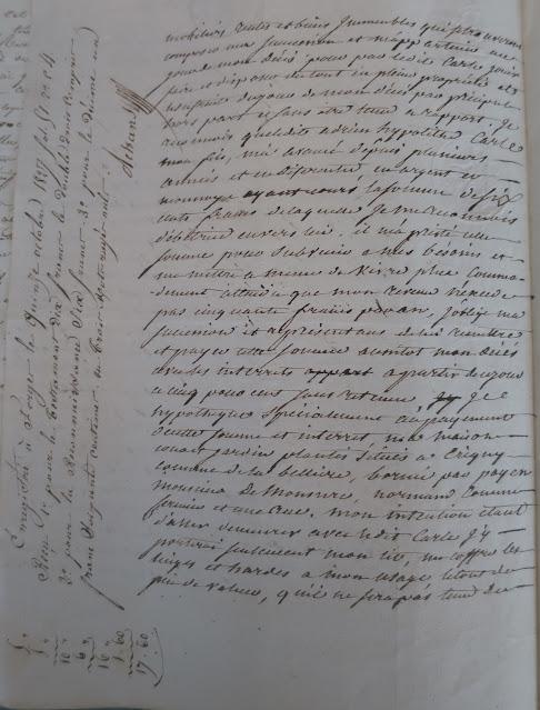 Testament de Marie Catherine Crevel