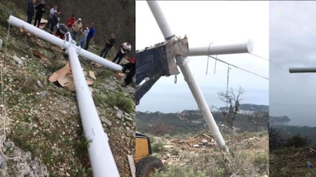 Η αλβανική αστυνομία εκφοβίζει ομογενείς που ύψωσαν τεράστιο σταυρό