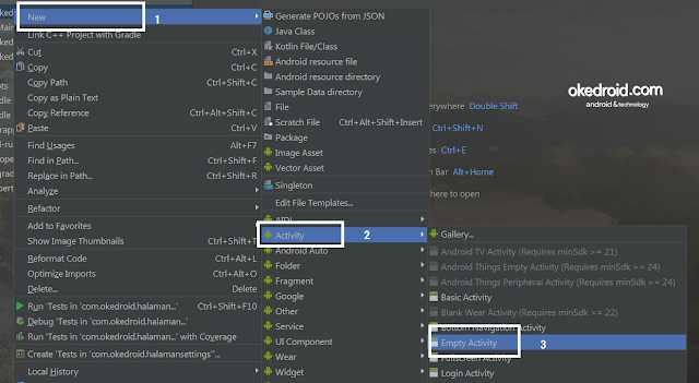Empty Activity Android Studio