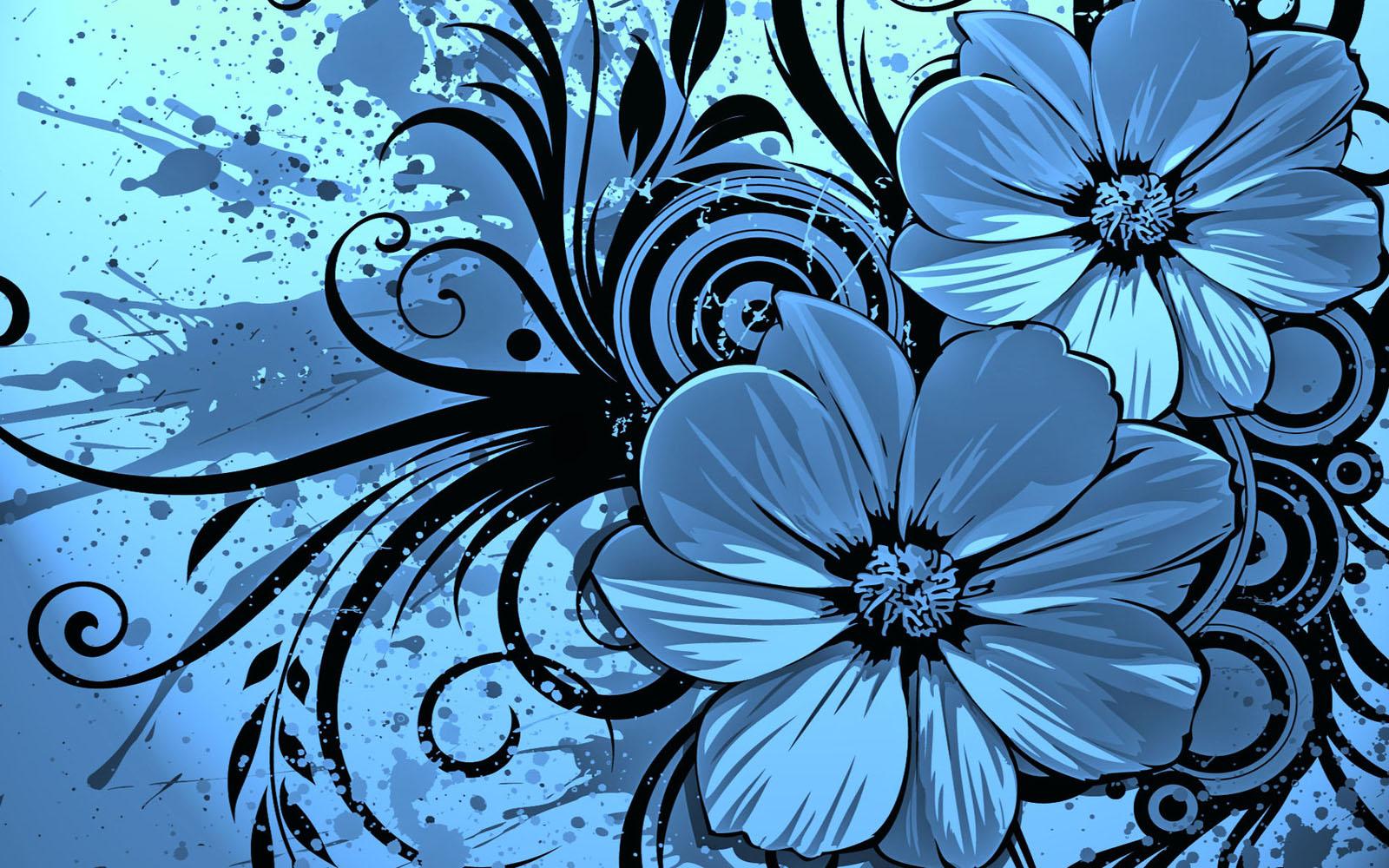 Wallpapers: Vector Flowers Desktop Wallpapers