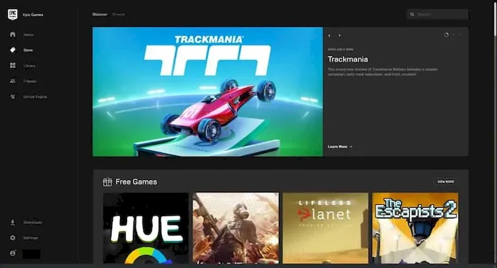 PC game download sites epic games store