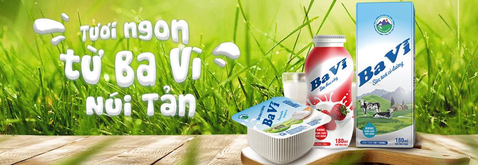 Sữa Ba vì: Sữa tươi, Sữa chua Ba Vì, Bánh sữa - Tổng đại lý