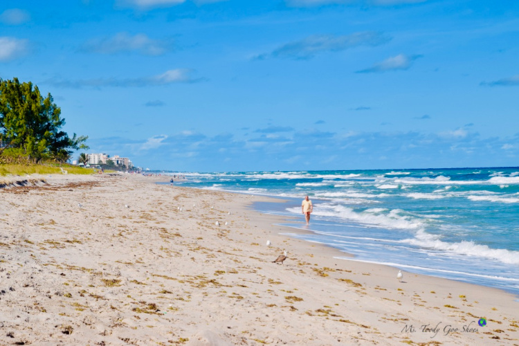 The beach in Boca Raton, Florida | Ms. Toody Goo Shoes