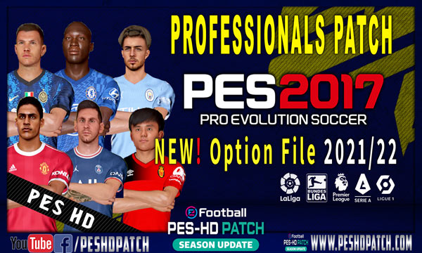 PES 2017 Professionals Patch v6.2 Option File Update Season 2021-2022