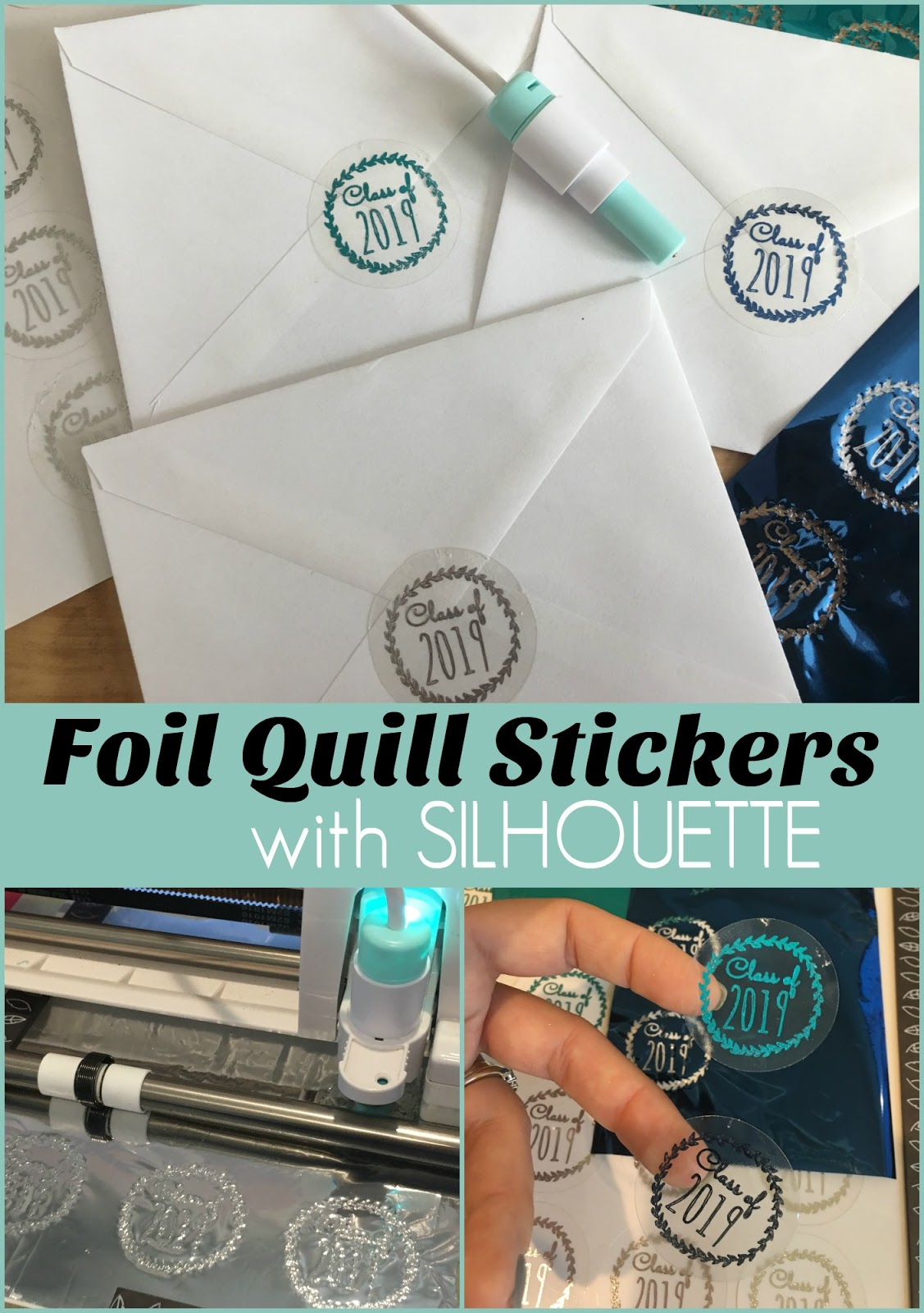 How to Make Foil Quill Stickers with Silhouette CAMEO (Free