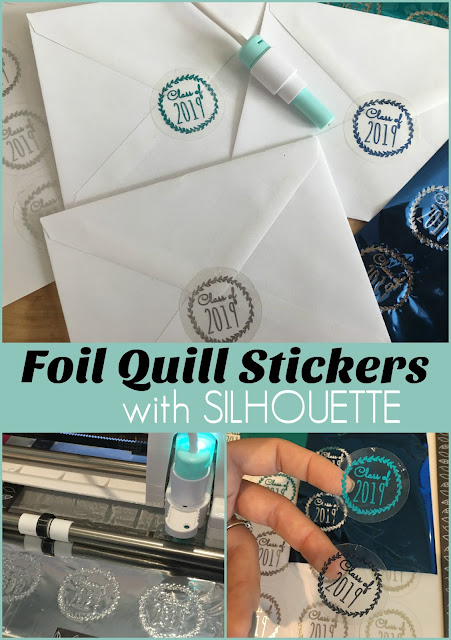 silhouette 101, silhouette america blog, foil quil, foil quill silhouette, sticker paper, silhouette sticker paper