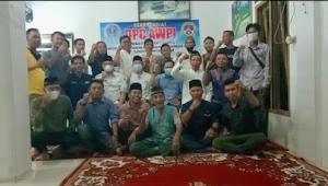 Ketua DPC AWPI Lam-Tim Beserta Anggota  BUKBER Bersama Ketua DPC Kota Metro Di Sekretariat