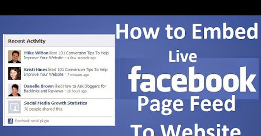 How to Embed Live Facebook Page Feed to Your Website / Blog | Blogger-o-Pedia - The Complete Reference to Blogger Wikipedia
