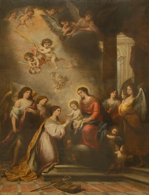 Los desposorios místicos de Santa Catalina, 1682