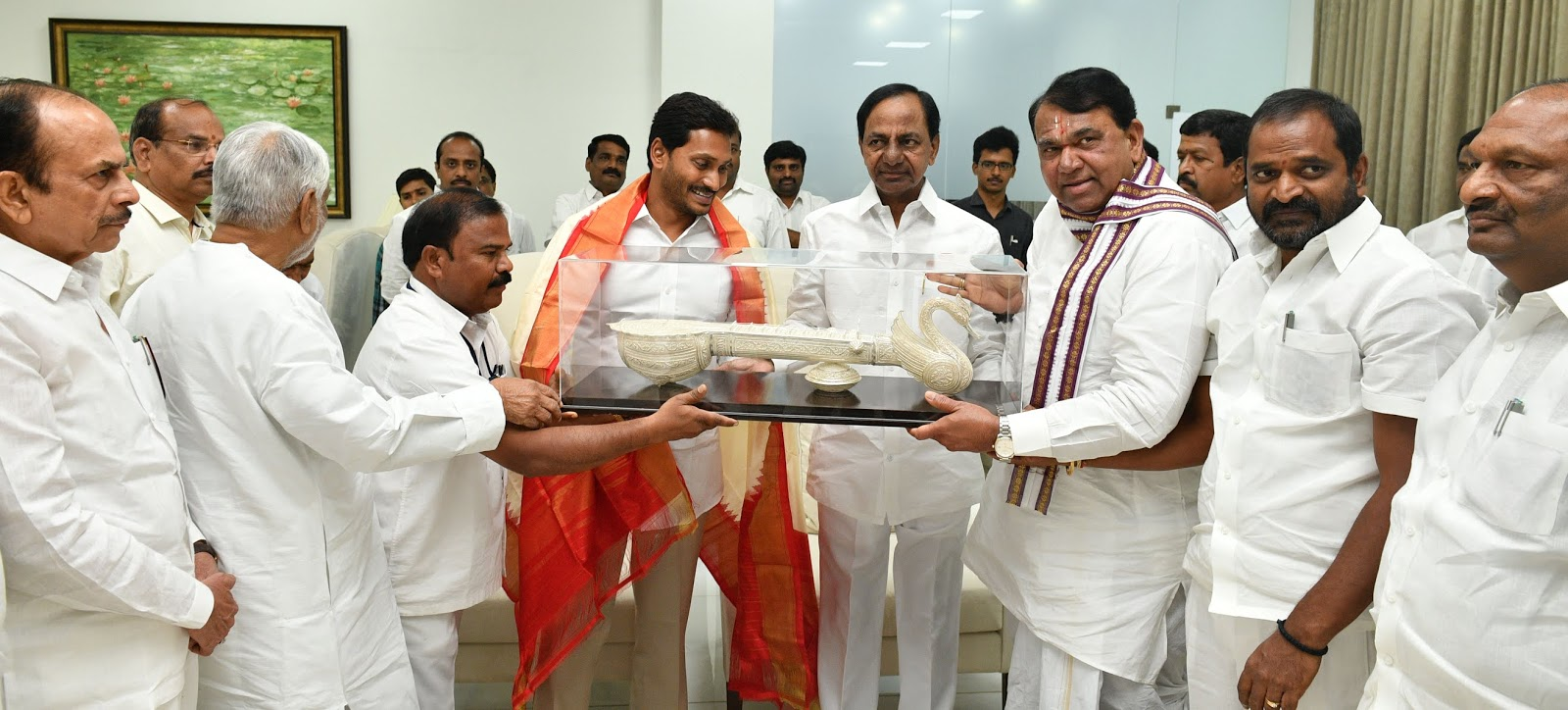Newly elected Chief Minister of AP Jagan Mohan Reddy called