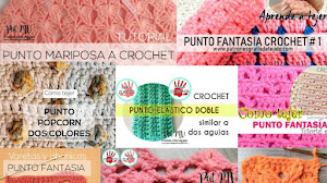 12 tutoriales de puntos crochet y dos agujas en video