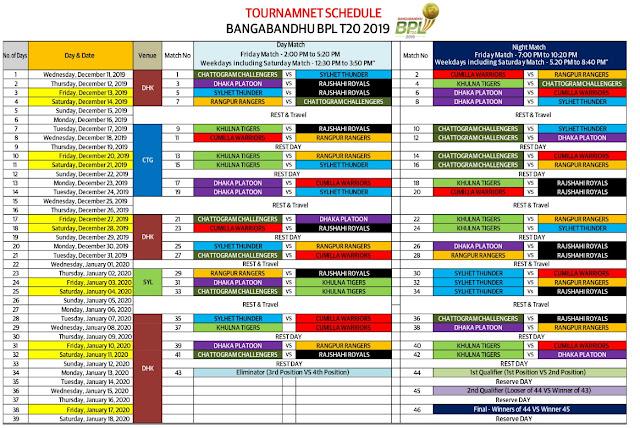 bbpl 2020 match fixture