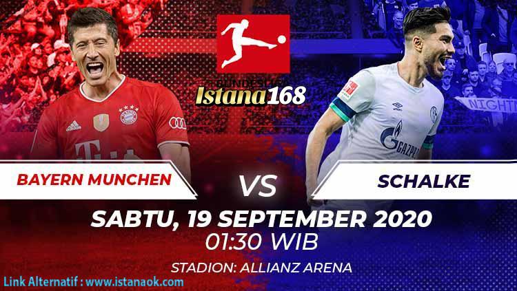 Prediksi Bola Akurat Istana168 Bayern Munchen Vs Schalke04 19 September 2020