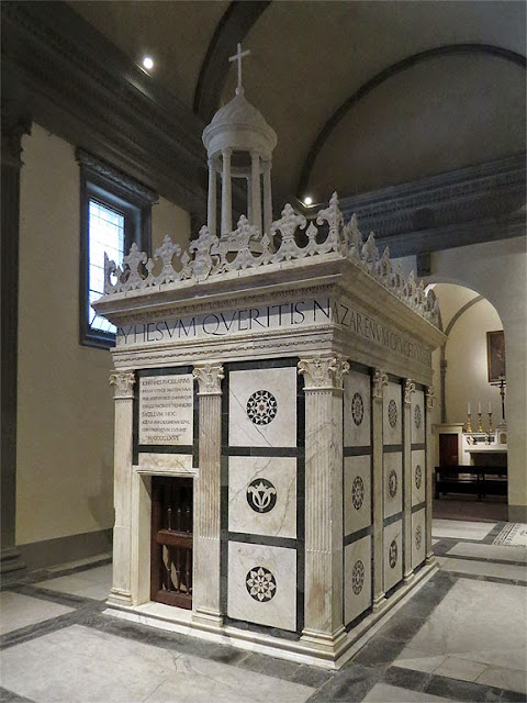 Rucellai Sepulchre, Rucellai Chapel, deconsecrated church of San Pancrazio, Florence