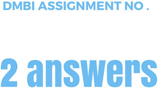 DMBI Assignment no 2 answers download now