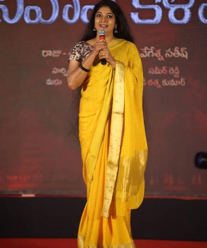 Telugu Mom Character Artist Sithara Traditional Photos Yellow Silk Saree Navel Queens