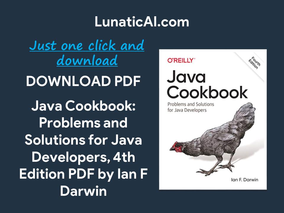 Java Cookbook, 4th Edition PDF Free Download