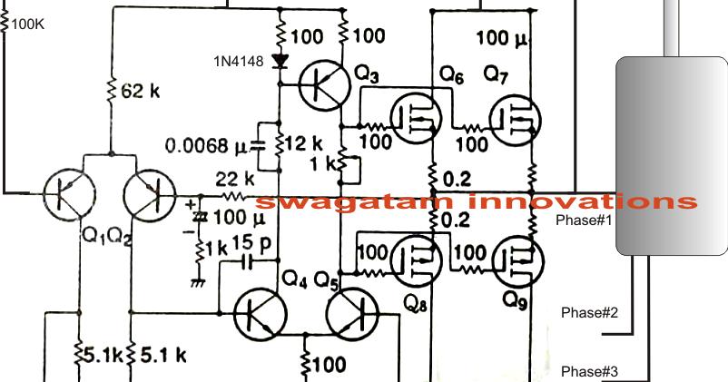 Single Phase AC to Three Phase AC Converter Circuit