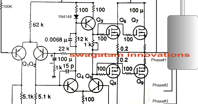 single phase ac to three phase ac converter circuit