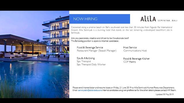 Lowongan kerja Alila Seminyak Resort 2019