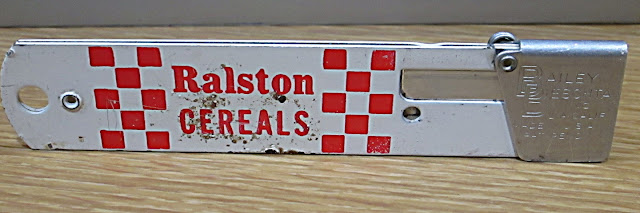 back of cutter note Ralston Cereals