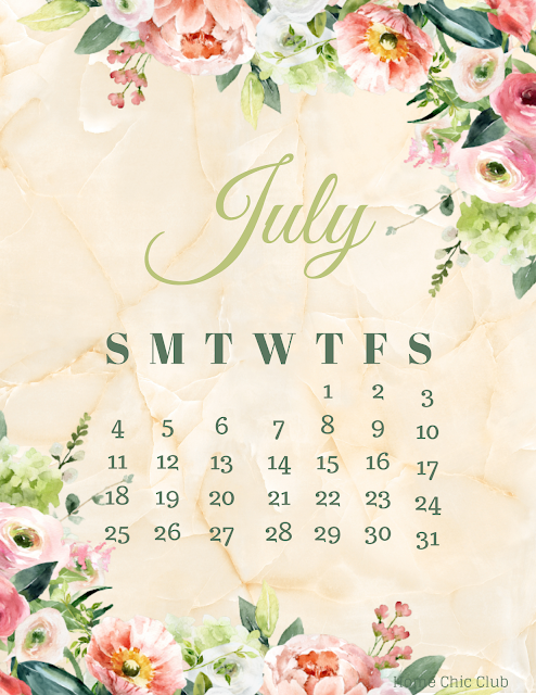 July 2021 Free Desktop & Printable Calendars
