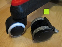 Vergleich: LIHAO 5x Hartbodenrollen Drehstuhlrollen 10mm / 50mm Rollenset für Bürostuhl Schwarz Weiß