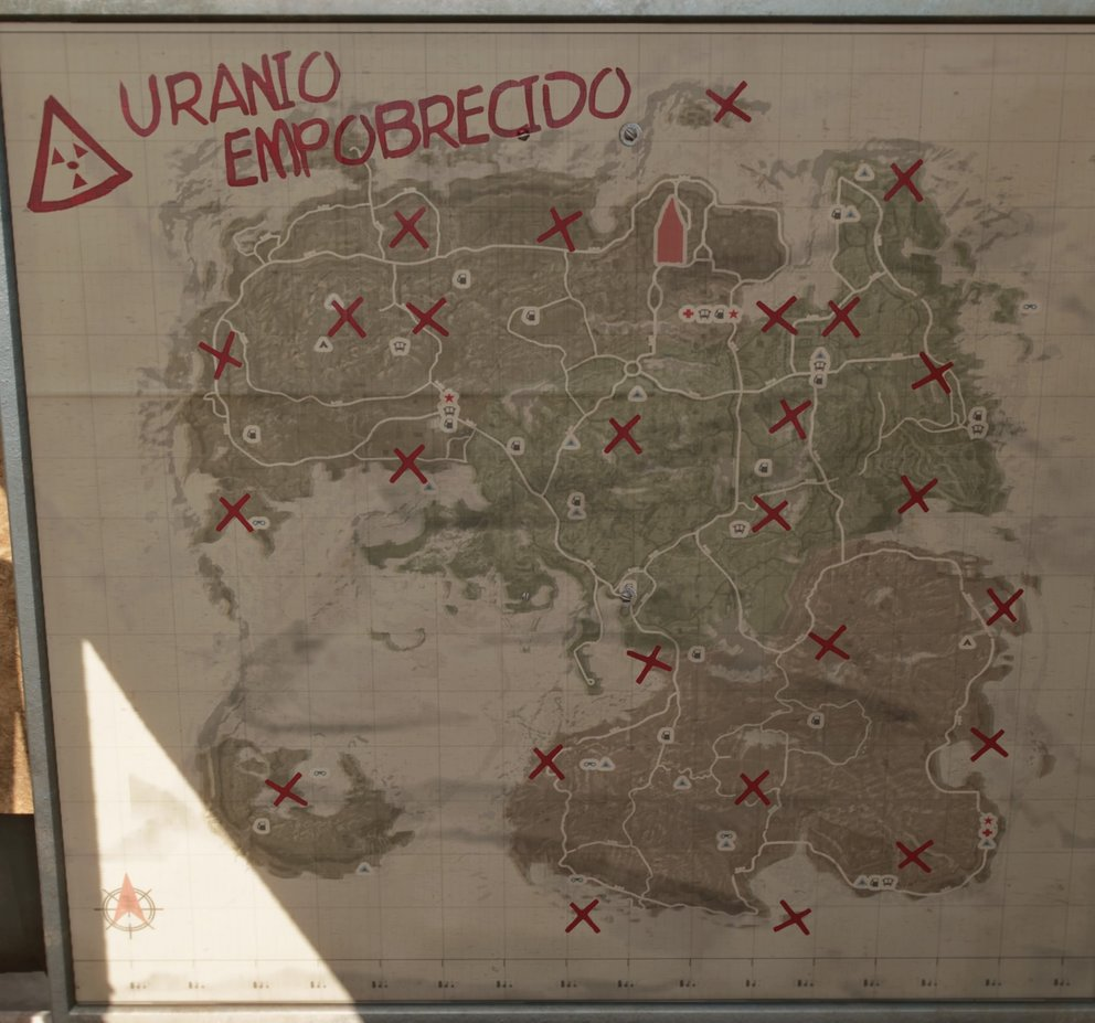 Depleted uranium locations in Yara (Far Cry 6).